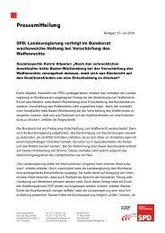 Waffenrecht Bundesrat Altpeter - Katrin Altpeter
