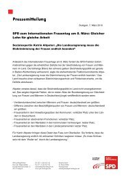 Frauentag Altpeter - Katrin Altpeter