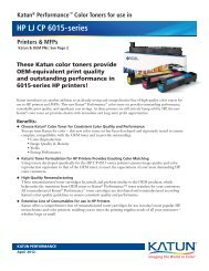 Katun® Performance™ Color Toners for use in HP LJ CP 6015-series
