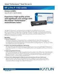 Katun® Performance™ Toner for use in HP LJ Pro P 1102-series ...