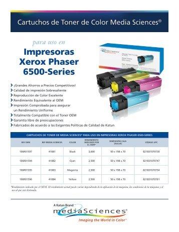 Impresoras Xerox Phaser 6500-Series - Katun