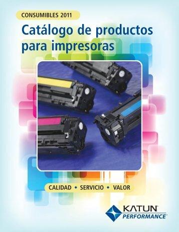 Catálogo de productos para impresoras - Katun