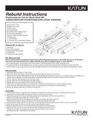 Rebuild Instructions - Katun