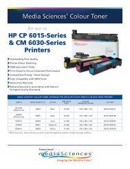 Media Sciences® Colour Toner HP CP 6015-Series & CM ... - Katun