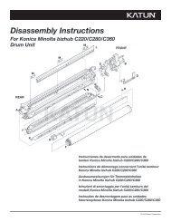 Disassembly Instructions For Konica Minolta bizhub C220 ... - Katun