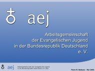 Arbeitsgemeinschaft der Ev. Jugend in der ... - Dr. Katy Teubener