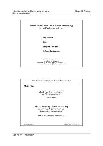 Informationstechnik und Wissensverarbeitung in der ...