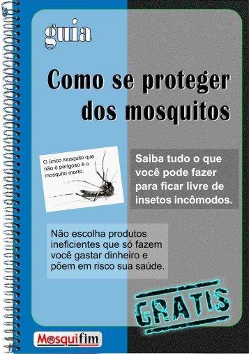 Como se proteger dos mosquitos.
