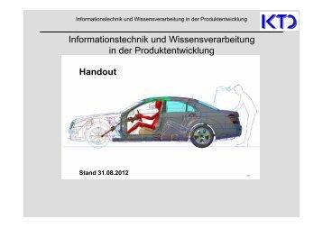 Handout WS 2012/SS2013 - von Alfred Katzenbach