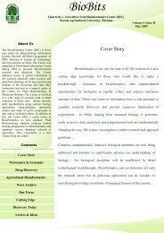 May 2009,Volume I, Issue II - Bioinformatics Centre, Kerala ...
