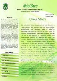 September 2010, Volume II, Issue III - Bioinformatics Centre, Kerala ...