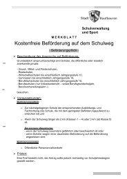 Schulweg Beförderungspflicht - Stadt Kaufbeuren