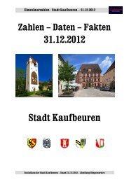 Einwohnerzahlen zum Stand 31.12.2012 [pdf] - Stadt Kaufbeuren