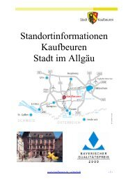 Standortbeschreibung - Stadt Kaufbeuren