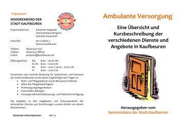 Broschüre Ambulante Versorgung - Stadt Kaufbeuren