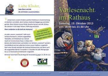 Vorlesenacht 2013 - Stadt Kaufbeuren