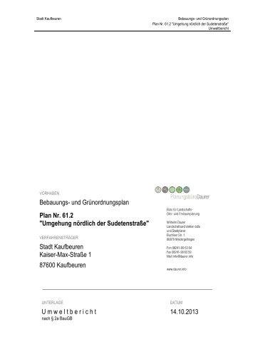 061_02_00_B-Plan_Umweltbericht_14102013_ ... - Stadt Kaufbeuren