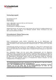 Verkaufsprospekt Schoellerbank Global Resources