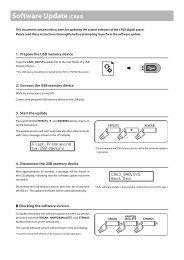 CA63 Software Update Instructions (English) - Kawai