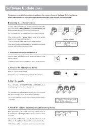 Kawai CN43 Software Update instructions (English)