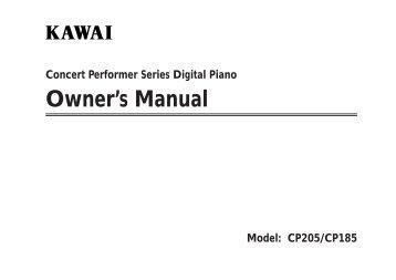 owner's manual (PDF) - Kawai