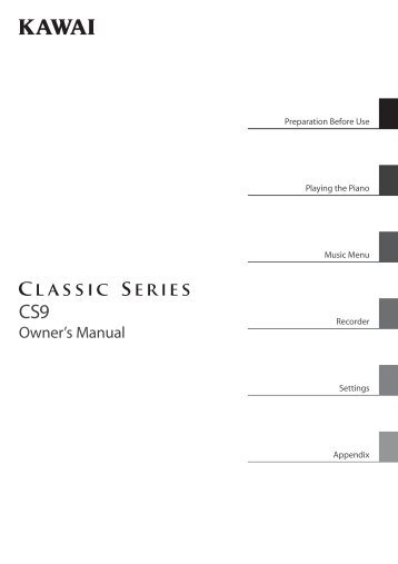 Kawai CS9 Owner's Manual (English)