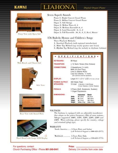 LIAHONA Digital Organ/Pia