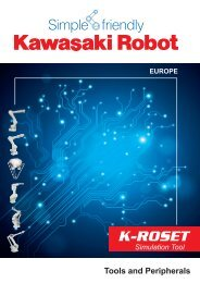k-roset - Kawasaki Robotics Deutschland GmbH