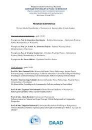 program konferencji - Wyższa Szkoła Menedżerska w Warszawie
