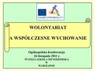 Wolontariat - Wyższa Szkoła Menedżerska w Warszawie