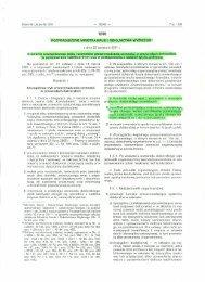 Rozporządzenie Ministra Nauki i Szkolnictwa Wyższego z dnia ...