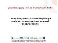 Zmiany organizacyjne w szkołach od 1.09. 2012 wynikające z ...