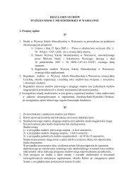 Regulamin studiów Wyższej Szkoły Menedżerskiej w Warszawie
