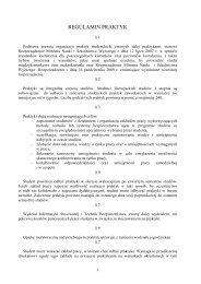 REGULAMIN PRAKTYK - Wyższa Szkoła Menedżerska w Warszawie
