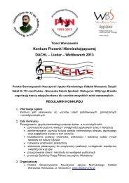 Regulamin DACHL-Lieder Wettbewerb - Austriackie Forum Kultury