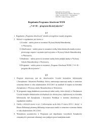 "Regulamin Programu Absolwent WSM ""7+4=10 – program dla ..."