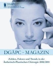 Statistiken 2010 - Deutsche Gesellschaft für Ästhetisch Plastische ...