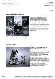 Les nouvelles licences de 2012 Yoga cats & dogs - Kazachok