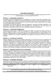 REGLEMENT INTERIEUR ARTICLE 1 – PERSONNEL ... - Kazachok