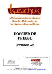 dossier de presse décembre 2006 - Kazachok