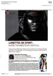 Lunettes de sport : entre technicité et lifestyle - Kazachok