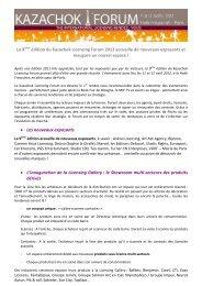 La 9 ème édition du Kazachok Licensing Forum 2012 accueille de ...