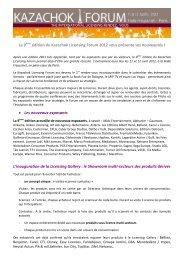 La 9 ème édition du Kazachok Licensing Forum