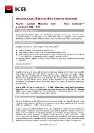 pravidla soutěže soutěž s kartou maestro 500,- kč! - Komerční banka