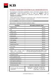 Oznámení o minimálním počátečním vkladu a ... - Komerční banka