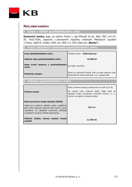 Kreditni Karta Visa Electron Komercni Banka