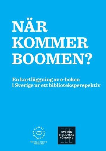 en kartläggning av e-boken i Sverige ur ett biblioteksperspektiv