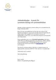 Anbudsinbjudan – konsult för systemutveckling och systemarkitektur