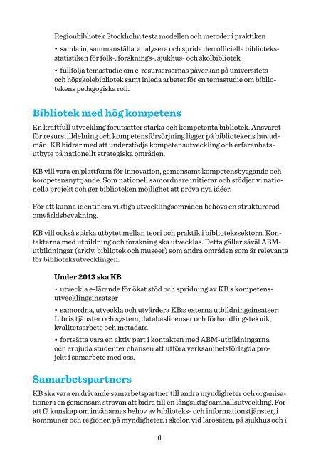 NationellSamordning Strategi2013webb - Kungliga biblioteket