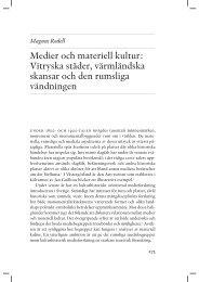 Medier och materiell kultur
